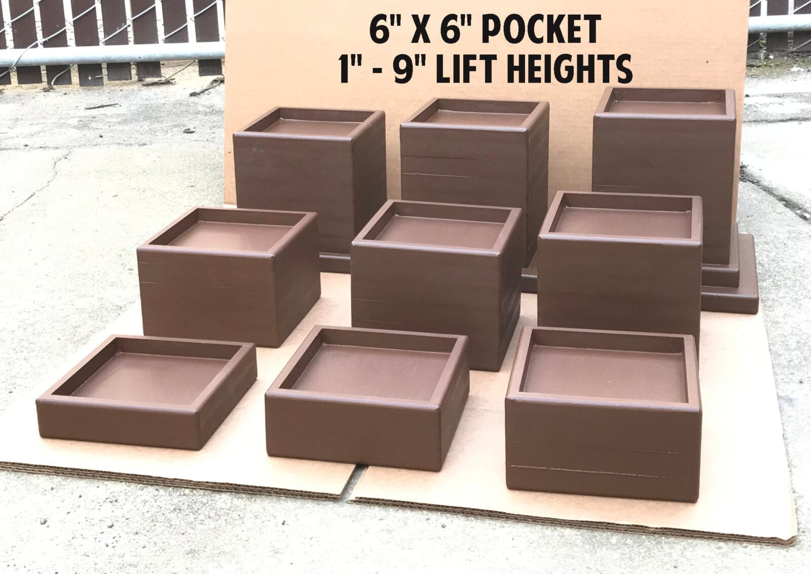 "6x6 Pockets - 1"" to 9"" Lift Heights"